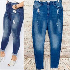 ASOS Curve high waist skinny jeans